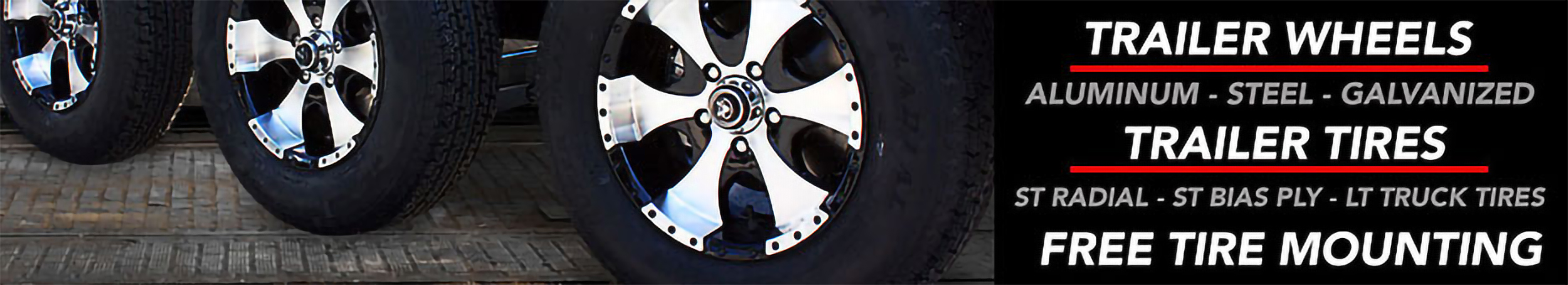 Trailer Wheels and Tires Free Shipping over $49