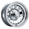 13x4.5 Chrome Modular Steel Trailer Rim with Rivets 5 Lug, 1660 lb Max Load