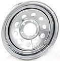 16x6 Chrome Modular Steel Trailer Wheel (No Rivets) 6 Lug, 3760 lb Max Load