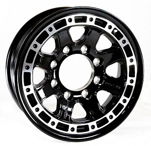 16x6 T11 Sendel Aluminum Trailer Wheel, 8 on 6.50 Lug, 3,750 lb Capacity