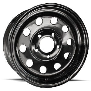 15 x 5 Matte Black Modular Steel Trailer Wheel 5 on 5 Bolt Pattern