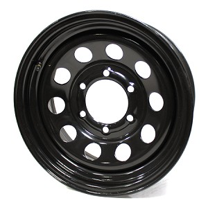 15x6 Black Modular Steel Trailer Wheel 6x5.5 Lug, 2850 lb Load Capacity,  #2756060-43146