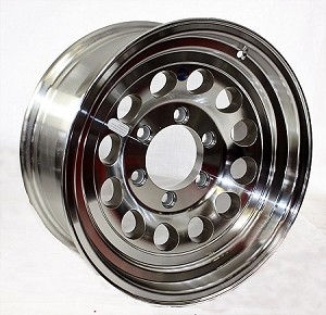 16x7 HiSpec Series 03 Aluminum Modular Trailer Wheel 6x5.5 3200 lb Max Load
