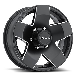 15 x 6 Phat Star Matte Black Aluminum Trailer Wheel 6 x 5.50  855-56060
