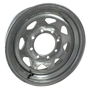 16 x 6 Galvanized Steel Spoke Trailer Wheel 8 Lug, 3750 lb Capacity