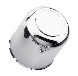 Chrome ABS Plastic Center Cap Closed End with Plug 4.25 S1050-425CC
