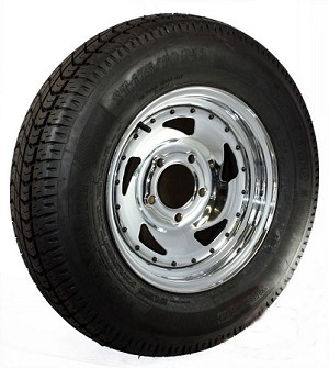 ST175/80D13 inch Bias Ply Trailer Tire with 13 in. Chrome Blade Directional Rim