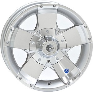 14x5.5 HiSpec Series 01 Aluminum Trailer Wheel with Center Cap, 5 Lug, 1900 lb Max Load
