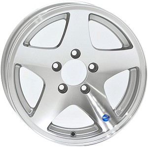 14x5.5 HiSpec Series 04 Star Aluminum Trailer Wheel 5 Lug, 1900 lb Max Load