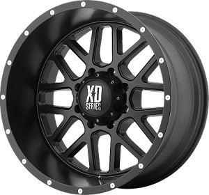 17 x 8.5 Satin Black, Aluminum Grenade Trailer Wheel, 5 on 4.50, 2500 lb Max Load