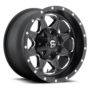 Fuel Matte Black & Milled Boost D534 Aluminum Wheel 18x9 5x4.5|5x5 1mm