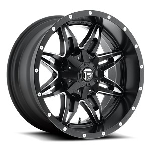 18X9 FUEL, LETHAL - D567 ALUMINUM TRAILER WHEEL BLACK, 5X4.50 LUG, 2500 LB CAPACITY