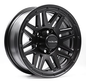 15x6 944B Outlander Black Aluminum Trailer Wheel 6x5.5