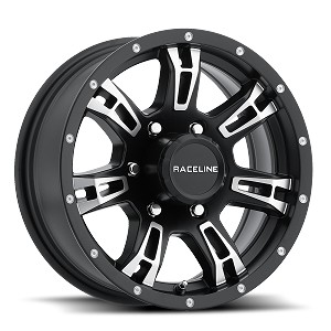 16 x 6 Arsenal Black 840 Aluminum Trailer Wheel 6 x 5.5 840-66060