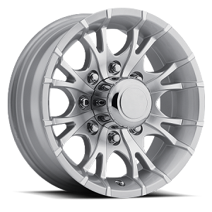 16x6 Silver Machined Viper T07 Trailer Wheel, 8 Lug, 3750 Max Load