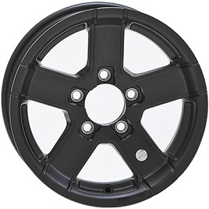 12x4 HiSpec Black Series07 Aluminum Trailer Wheel 5 Lug, 1520 lb Max Load