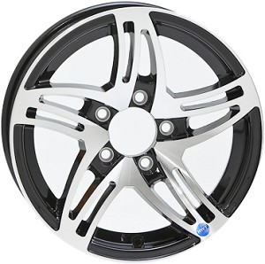 15x5 Black HWT HiSpec Series 09 Trailer Wheel 5 on 4.5 Lug, 2,150 lb Max Load