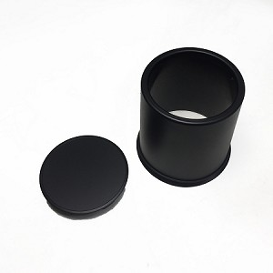 3.195 in Matte Black Center Cap Plastic, Straight Barrel with Plug