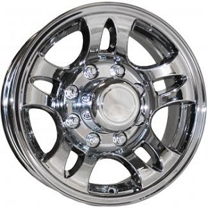 16x6 T03 Chrome Sendel Aluminum Trailer Wheel 8x6.50 Lug, 3580 lb Max Load
