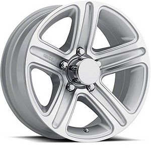15x6 T09 Silver Machined Trailer Rim 5x4.5 2,150 lb Max Load
