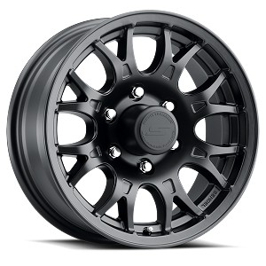 15x6 T16 Matte Black Aluminum Trailer Wheel 6x5.5
