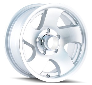 14x6 ION10 Aluminum Trailer Wheel with Open Center Cap, 5x4.50 Bolt, 1900 lb Max Load
