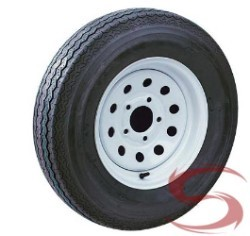 ST17580D13 Bias Ply LRC Trailer Tire w/ White Mod 5 on 4.50 Trailer Rim